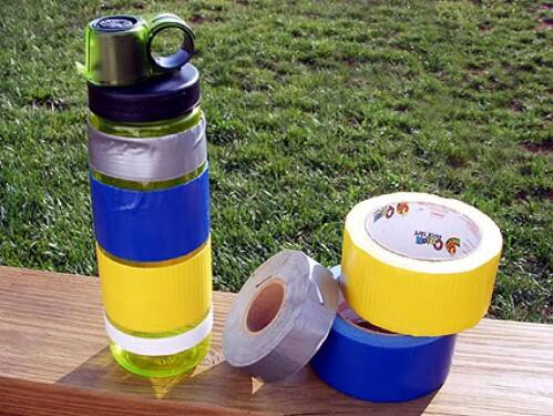 Water Bottle Duct Tape Camping Hack
