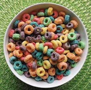 kids cereal in a bowl