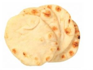 single plain white naan