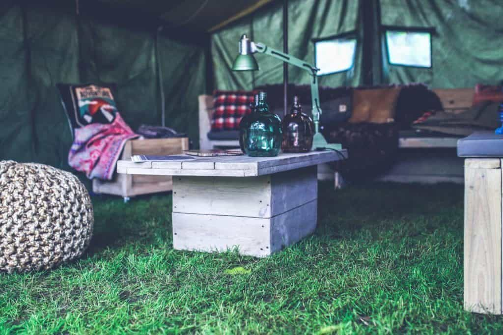 working environment on a campsite