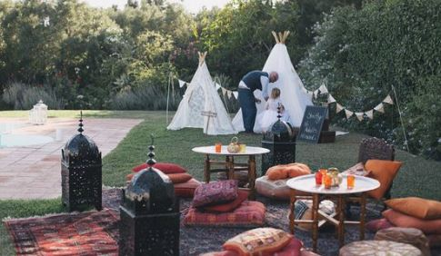 glamping hangout area