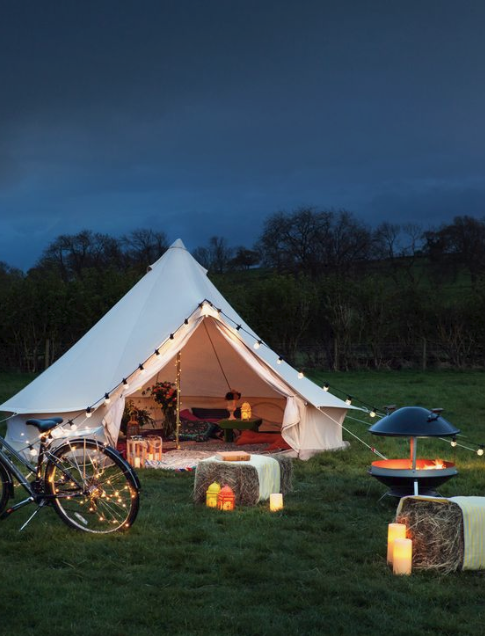 glamping tent idea