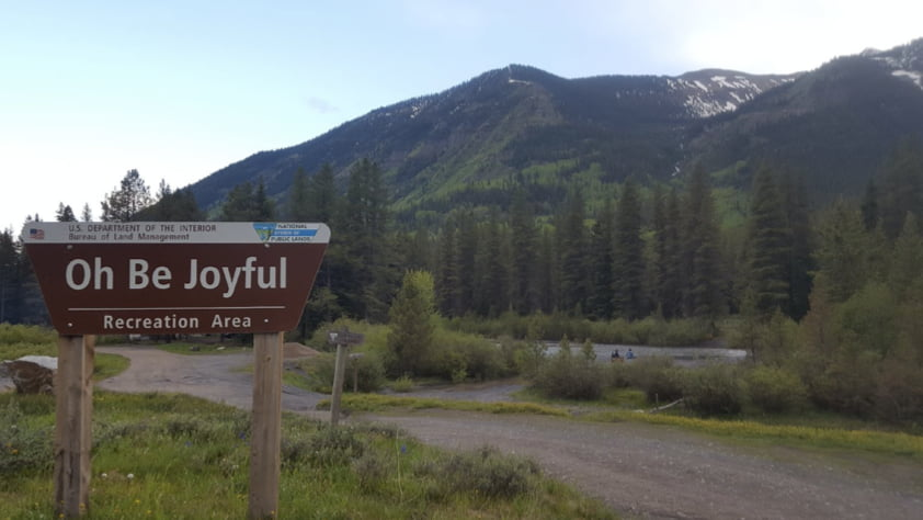 Oh Be Joyful Campground in Colorado