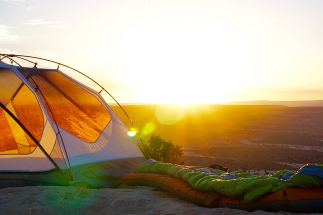 camping tent in sun 1